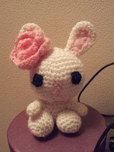 super cute little crochet bunny