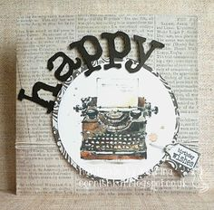 Katrina's Crafting Blog: Vintage Typewriter - one of the new watercolour digis from LOTV