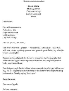 The Perfect Cover Letter How To Write A Cover Letter  Writing Cover Letter Tips And Letters