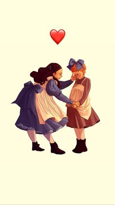 Anne and Diana Diana Barry, Gilbert And Anne, Anne White, Gilbert Blythe, Anne With An E, Famous Novels, Anne Shirley, Kindred Spirits, Period Dramas