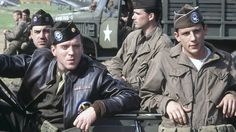 Damian Lewis, Ron Livingston, Ross McCall, and Matthew Settle in Band of Brothers Winters Band Of Brothers, Best Tv Shows, Movies And Tv Shows, Ross Mccall, Matthew Settle, Ron Livingston, Company Of Heroes, Brothers Movie, Damian Lewis