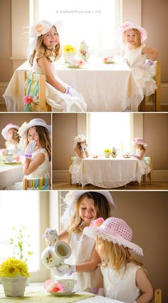 Tea Party, Easter, little girls aww when my babies are older I so wanna take pictures like this