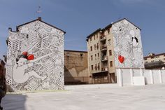 Millo paints a new mural in Milan, Italy (Part II)