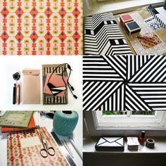 Weimarin työhuone! Graafisia pintoja, Virkkurin värejä ja vähän mintunvihreää lankaa.