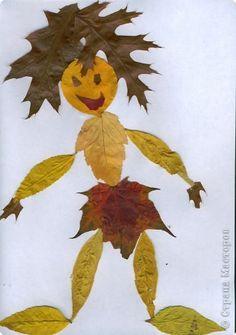 Поделка изделие Аппликация Работы из листьев Листья фото 3
