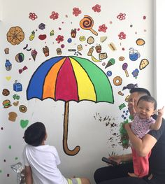 Mural sweets umbrella  By ehses and kiddos