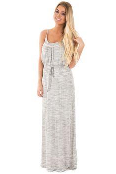 Lime Lush Boutique - Heather Grey Two Tone Maxi Dress with Crochet Trim, $23.95 (https://www.limelush.com/heather-grey-two-tone-maxi-dress-with-crochet-trim/)