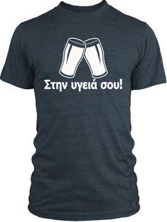 Big Texas Greek Cheers (White) Vintage Tri-Blend T-Shirt