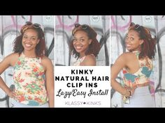 Natural Hair | Super Easy Textured Clip Ins Tutorial - YouTube