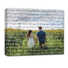 know someone getting married - Surprise them at their bridal shower with a custom photo w/ words to their song on canvas.