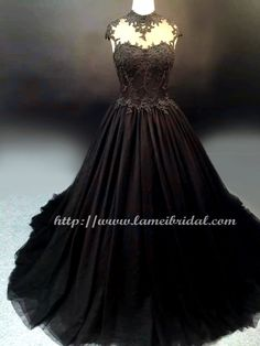 Gothic Style black High neck Wedding Bridal Dress Ball Gown , Black lace  ballgown  - YS19188078 by LAmei on Etsy