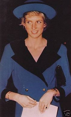 October 19, 1988: Princess Diana at the Annual National Service for Seafarers at St Paul's Cathedral, London.