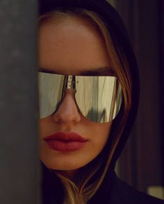 e7c1dc4bf30 The  Frenergy visor mirror sunglasses ignite energy.  VersaceEyewear Shop  now through the link