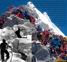 the change from elite to everyday Mount Everest Deaths, Everest Mountain, Mountain Climbers, Before After Photo, Top Of The World, Mountaineering, Rock Climbing, Trekking, Cool Photos