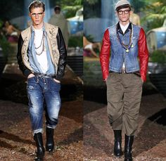 Dsquared2 2014 Spring Summer Mens Runway Collection - Milan Italy Catwalk Fashion Show: Designer Denim Jeans Fashion: Season Collections, Runways, Lookbooks and Linesheets