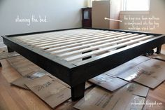 King-size platform bed #DIY | crab+fish