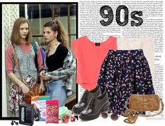 """90s fashion set"" by jazmincarolina9290 ❤ liked on Polyvore"