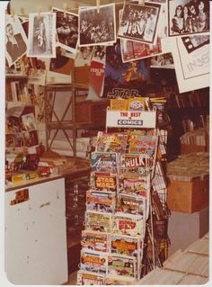 "A&M Comic Shop(1978). ""Among the many ruined institutions of post-internet life lies the pulp book shop, where deviant human beings of all ages, nauseated by the mundane modern world and its small-minded minions, once went to find comfort and adventure."""