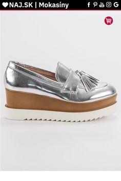 Strieborné mokasíny na platforme Corina Sperrys, Boat Shoes, Tommy Hilfiger, Gucci, Platform, Fashion, Moda, Fashion Styles