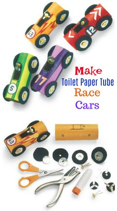 Take this idea for a spin and turn an ordinary toilet paper tube into a hot rod! It's a fun activity for any kid who loves cars and wants to make one they can create themselves from the wheels on up!   #Kidscrafts #crafts