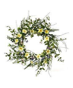 Look what I found on #zulily! 26'' Spring Breeze Wreath #zulilyfinds