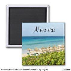 Shop Menorca Beach of Santo Tomas Souvenir Magnet created by stdjura. Menorca Beaches, Round Magnets, Paper Cover, Recycling, Prints, Color Blue, Image, Size 2, Gender