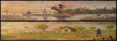 Fore-edge painting. The Poetical Works of Thomas Campbell (London : Henry Colburn, 1828) – in two volumes, each with a hunting scene. [PR4410.A2 1828]