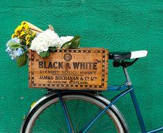 10 Bike inspirations - DIY Bike porter crate