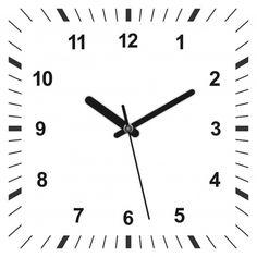 3d realistic square shaped clock. Premiu... | Free Vector #Freepik #freevector #freebusiness #freecircle #freehand #freelight
