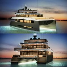 This catamaran has been designed Dr. Albert Nazarov of Albatross Marine Design.