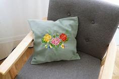 embroidery, haft, rękodzieło, handmade Objects, Throw Pillows, Bed, Toss Pillows, Cushions, Stream Bed, Decorative Pillows, Beds, Decor Pillows