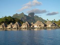 things to do in tahiti, bora bora hut on lagoon French Polynesia Honeymoon, Tahiti French Polynesia, Dream Trips, Dream Vacations, Pacific Cruise, Trip To Bora Bora, Tahiti Islands, Tahiti Nui, Fiji