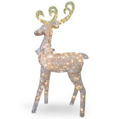 National Tree Co. Crystal Standing Deer Christmas Decoration