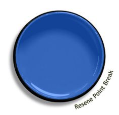 Resene Point Break is a mid-toned clear blue with a heavenly indigo heart. View this and of other colours in Resene's online colour Swatch library Wall Colors, Paint Colors, Thomas Bedroom, Resene Colours, Retro Summer, Light Blue Green, Home Reno, Color Swatches, Fashion Colours