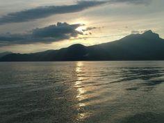Sunset over Garda Lake.