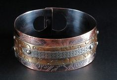 Tri Layered Cuff by Soul Whispers Arts