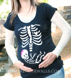 Maternity Skeleton Applique  DIY heat transfer by inspireyourwalls, $16.99