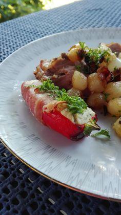 Små lækre snackpebre med ostefyld og bacon   amatoerkokken