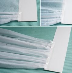 DIY-chef-hat-pizzaria-baking-tissue-paper-pleating-folding-taping