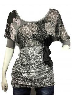 Camiseta SMASH gris y negra TALLA S