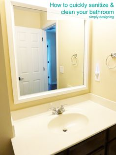 How to quickly sanitize and clean your bathroom without harsh chemicals   #cleaning  #naturalcleaning