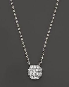 Dana Rebecca Designs 14K White Gold Lauren Joy Mini Necklace with Diamonds