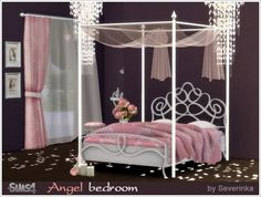 Sims by Severinka: Angel bedroom • Sims 4 Downloads