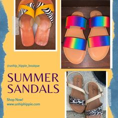 Sandals are slowly arriving just like Summer! ☀️ 🏖  Shop our small but funky shoe collection! 🌈 👡 🦄  Happy Shopping 🛍  #boutique #slideonsandals #summer #fashion #leopard #summertime #sandal #boutiqueshopping #instagood #sandals #boutiquefashion #majasandals #boutiqueclothing #leopardprint #summervibes #boutiques #beach #boutiquestyle #comfortsandals #unhiphippieboutique #rainbowsandals #safarisandals #sandalsoftheday #sandalsofinstagram Boutique Shop, Boutique Clothing, Fashion Boutique, Rainbow Sandals, Funky Shoes, Comfortable Sandals, Shoe Collection, Boutiques, Happy Shopping