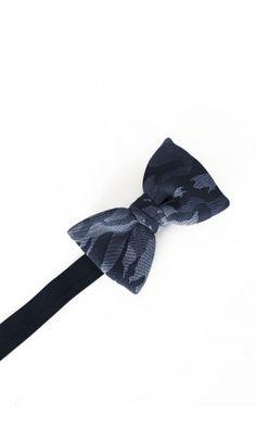 Joe Black Navy Camo Classic Bow Tie
