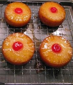 Heavenly Scents Recipes: Mini Pineapple Upside Down Cakes Recipe