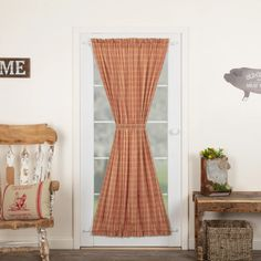 Sawyer Mill Red Plaid Door Panel Curtain – Lange General Store