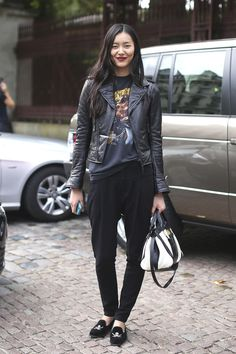 Liu Wen. Always so effortlessly chic.