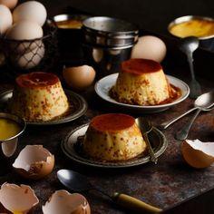 Homemade egg flan.