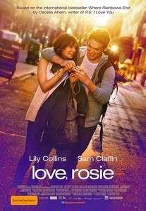 THE CINEMA 212: Love Rosie (2014)  Sinopsis :   Bercerita tentang Alex (Sam Claflin) dan Rosie (Lily Collins) yang telah bersahabat sejak mereka berusia 5 tahun. Persahabatan yang dekat itu bahkan seperti saudara sehingga tak mungkin mereka saling menyuikai satu sama lain. Ketika mereka berusia 18 tahun, tiba saatnya bagi mereka untuk mencintai seseorang. Tapi rasa canggung justru menghalangi kesempatan mereka untuk saling mencintai.